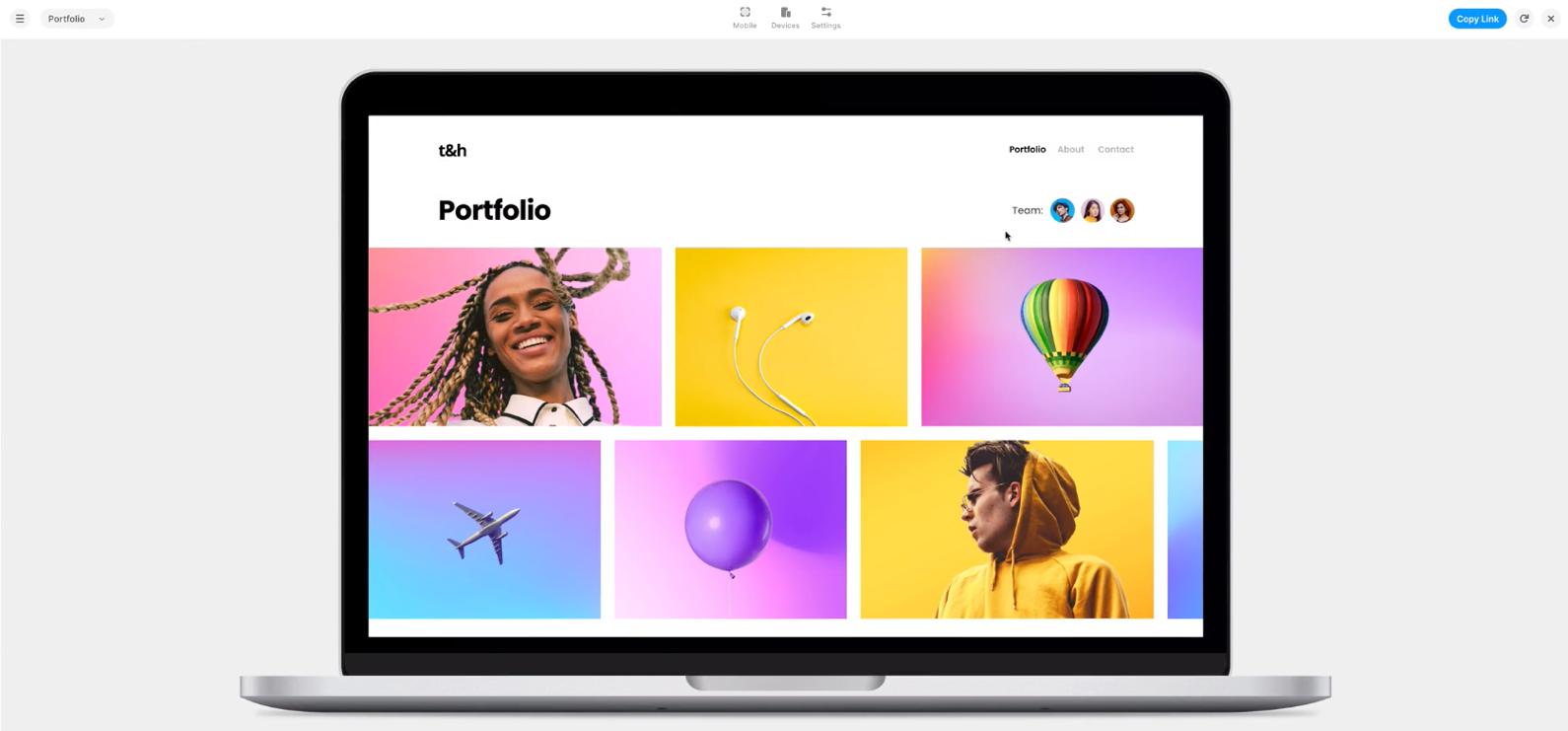 framer herramientas prototipado web