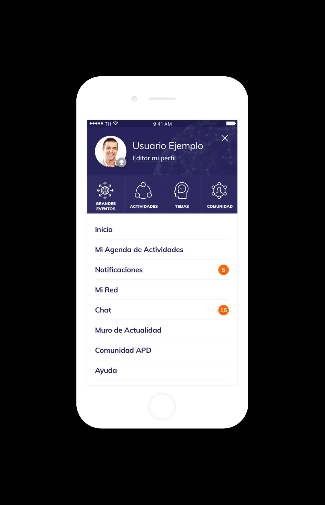 app móvil APD Suite captura 2