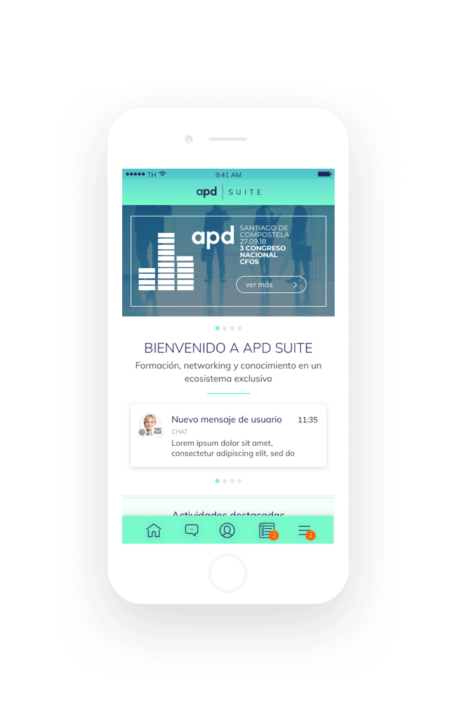 app móvil APD Suite captura 1