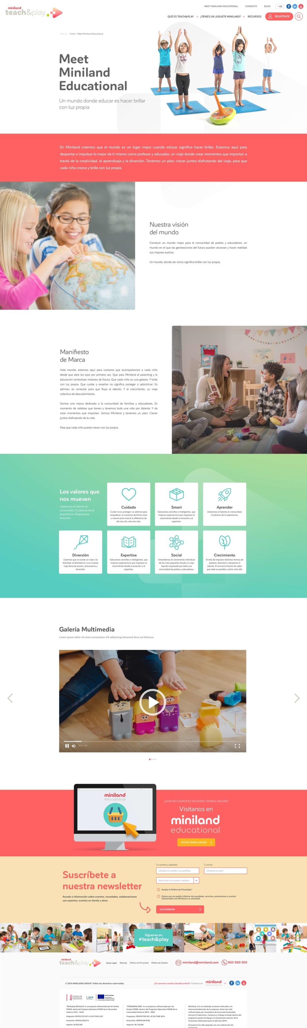 Diseño Miniland teach&play