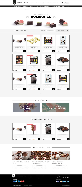 Desarrollo tienda online Quierochocolate
