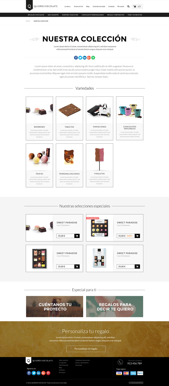 Desarrollo y diseño tienda online Quierochocolate