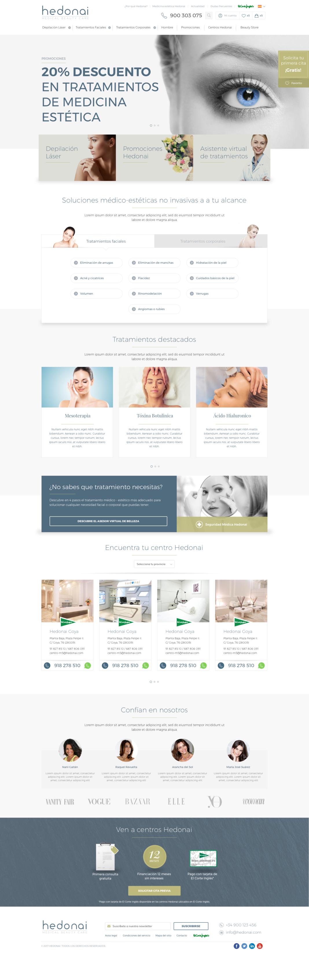 Diseño web, desarrollo web y SEO de Hedonai