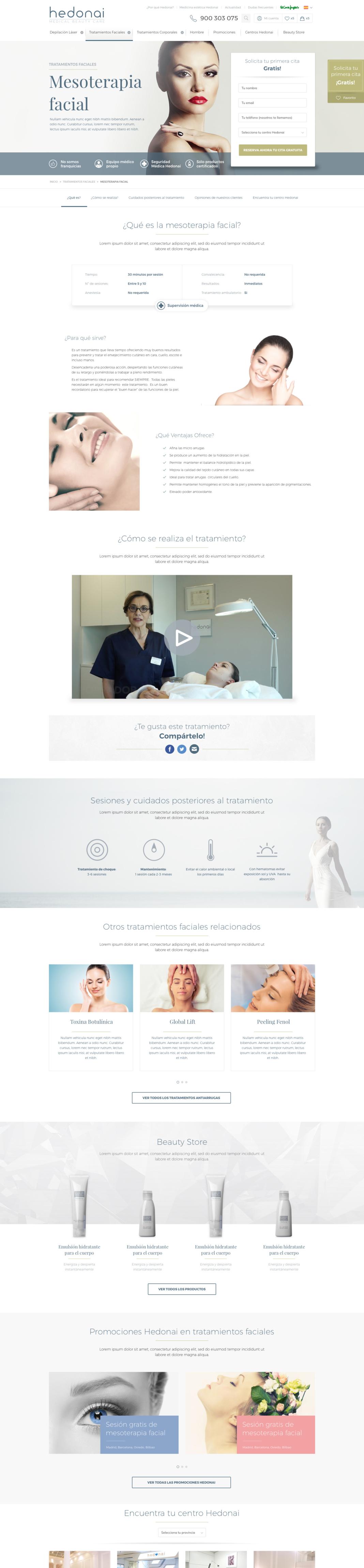 diseño web hedonai - tratamiento