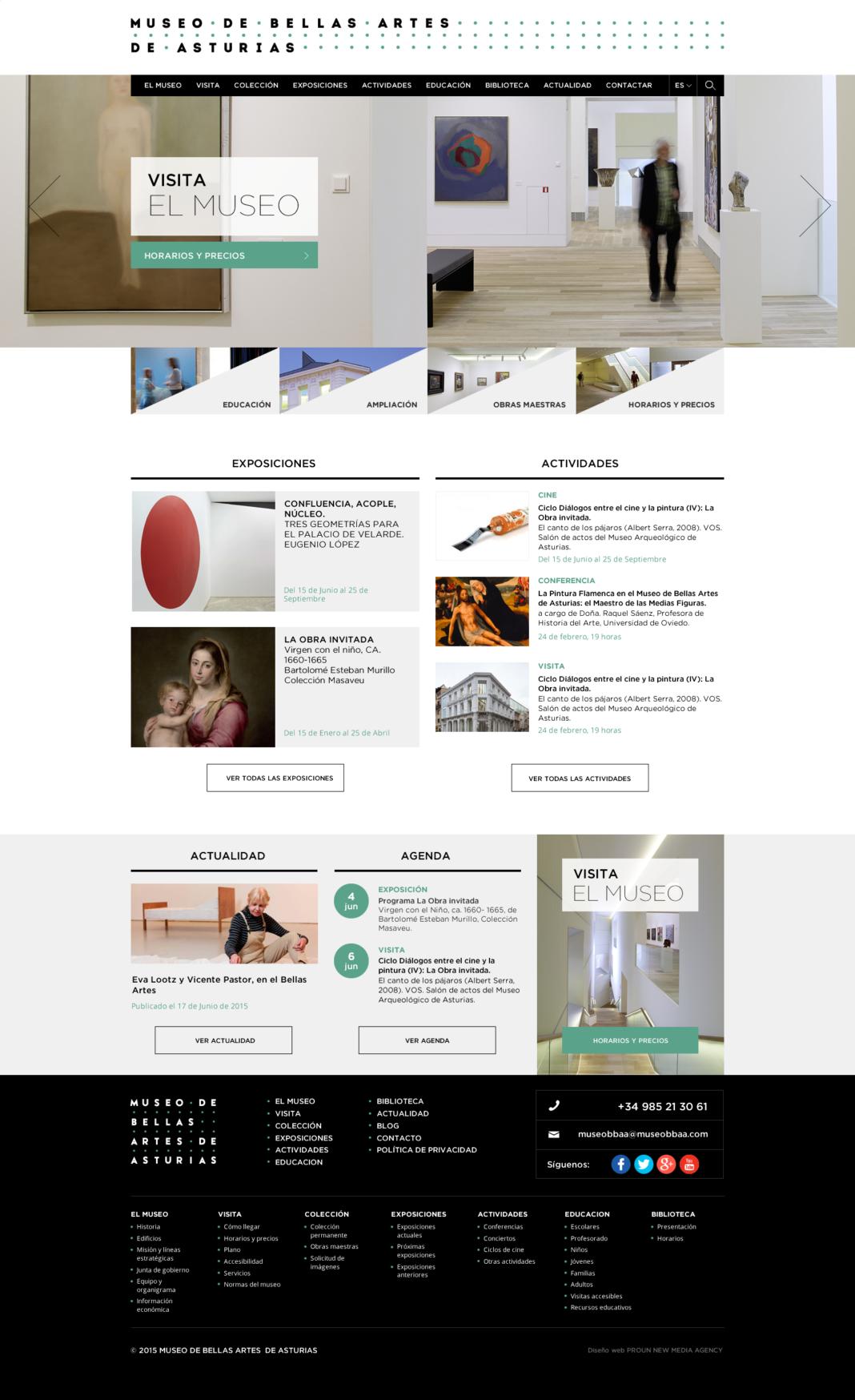 Diseño y desarrollo web Museo de Bellas Artes de Asturias
