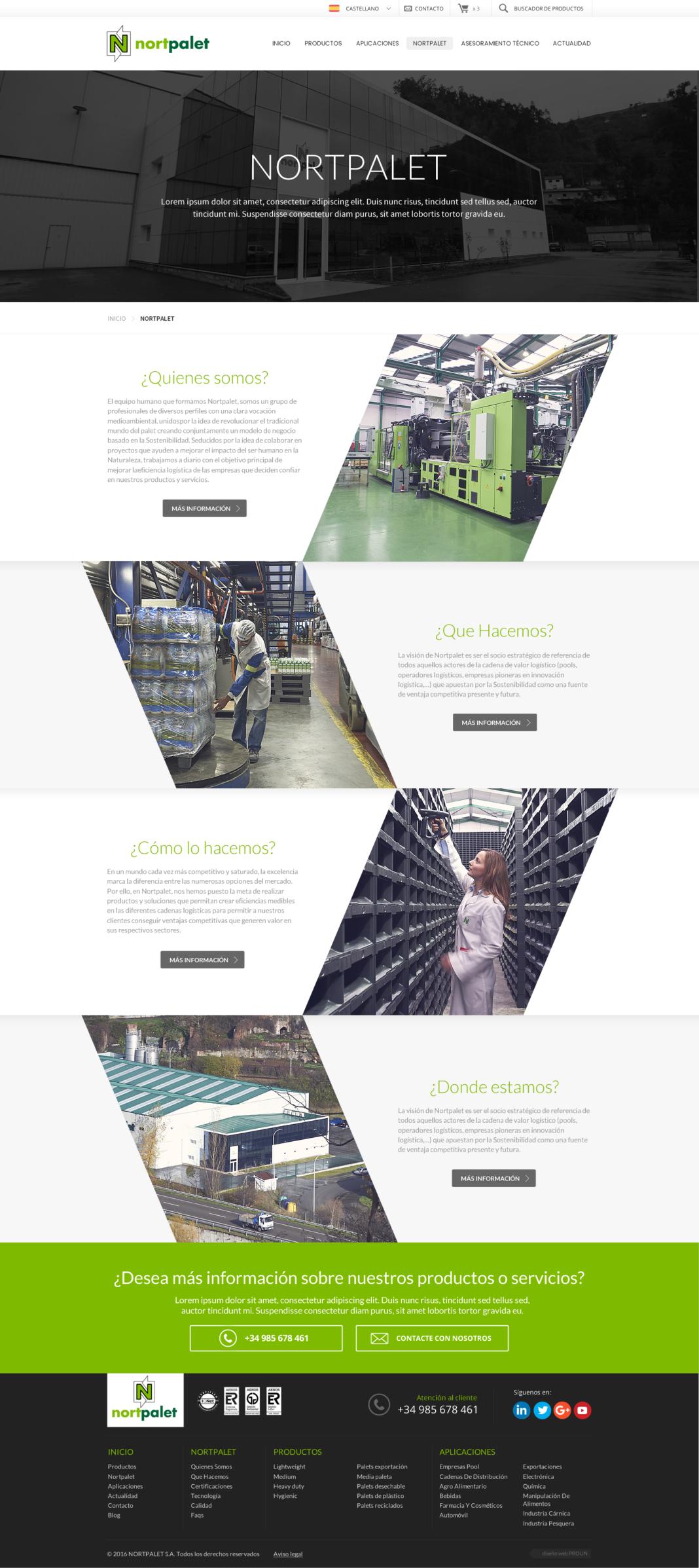 Desarrollo tienda online Nortpalet