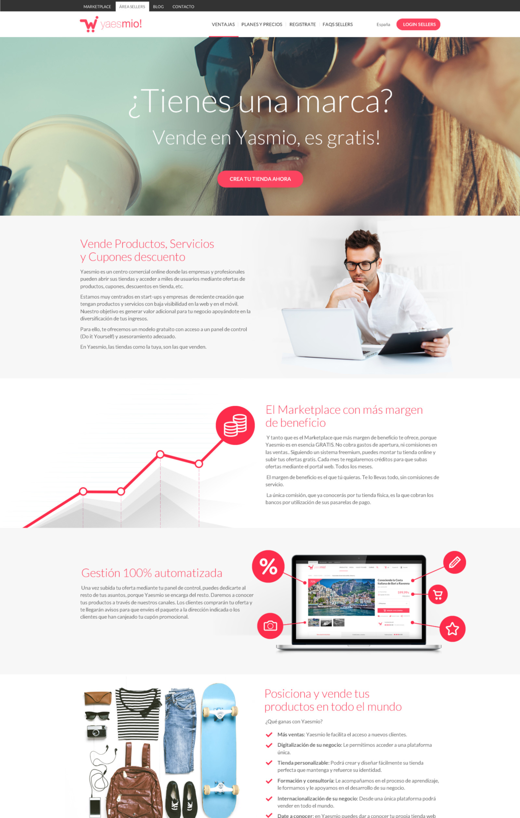 Desarrollo tienda online Yaesmío