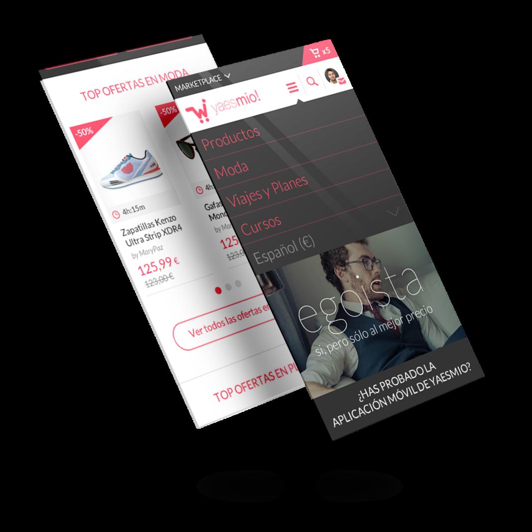 Diseño app tienda online Yaesmío