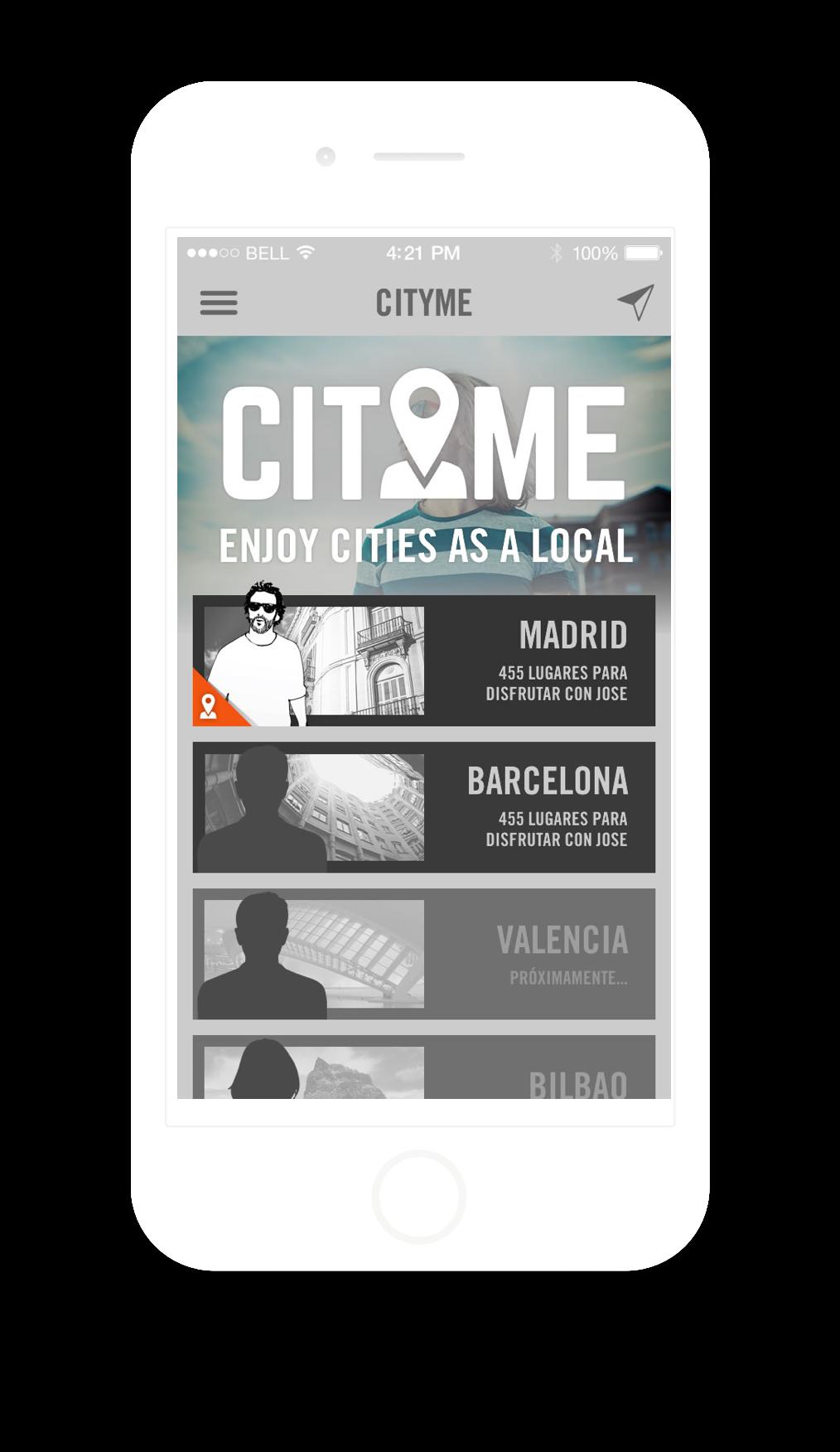 Diseño app City Me