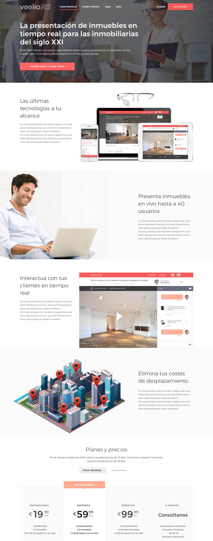 Diseño web Veelio Real State