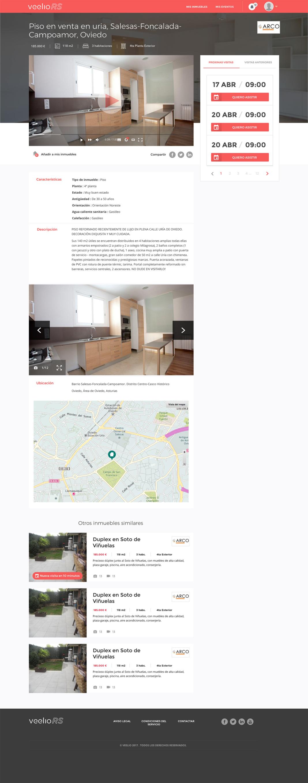 Desarrollo web Veelio Real State