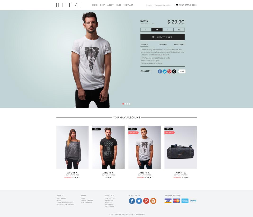 Desarrollo tienda online Hetzl Clothing