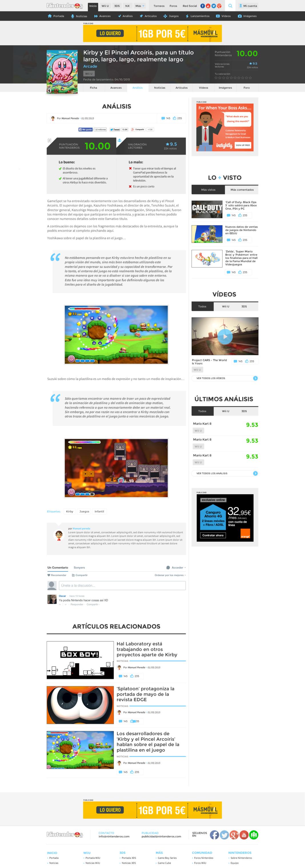Diseño y desarrollo web Nintenderos