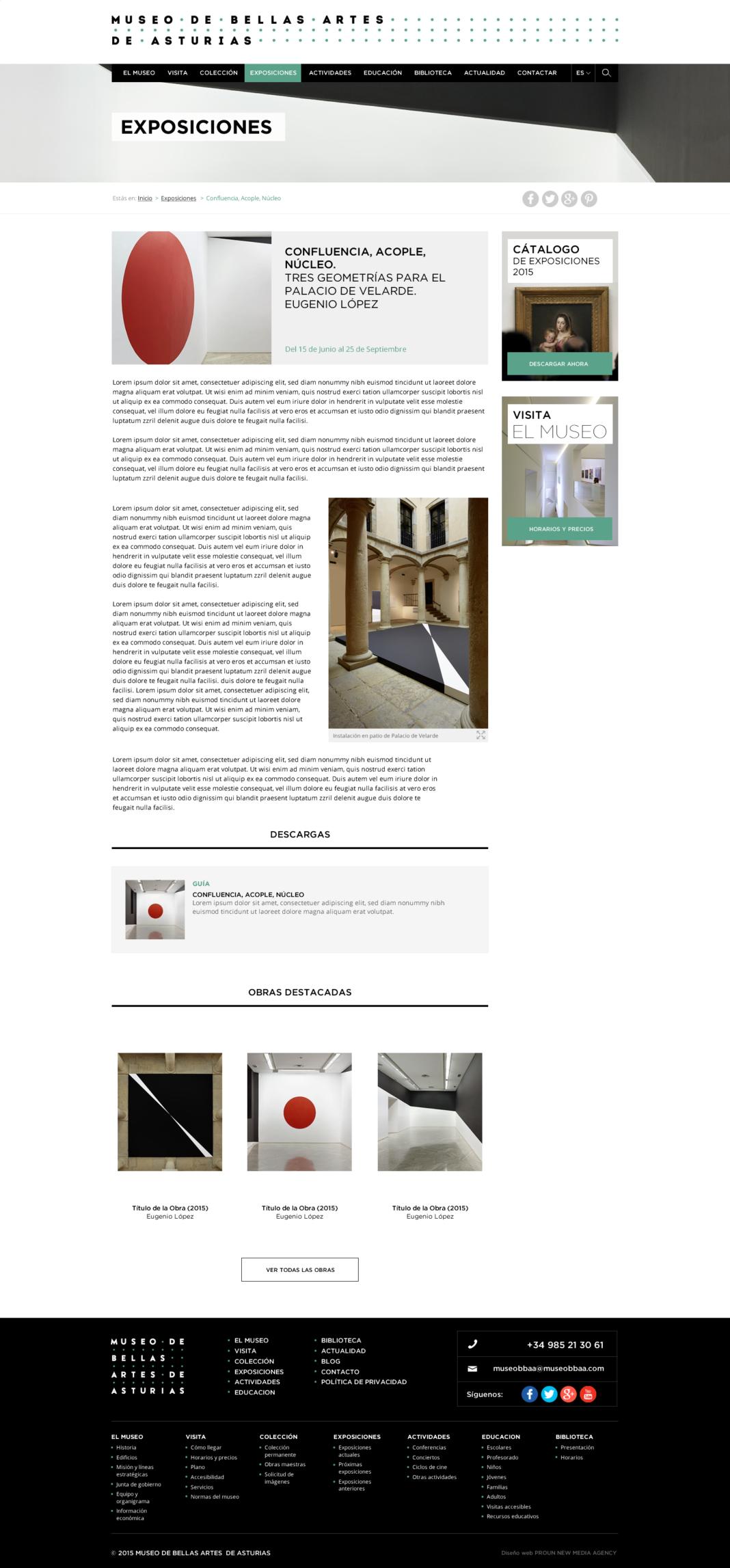 Desarrollo web Museo de Bellas Artes de Asturias