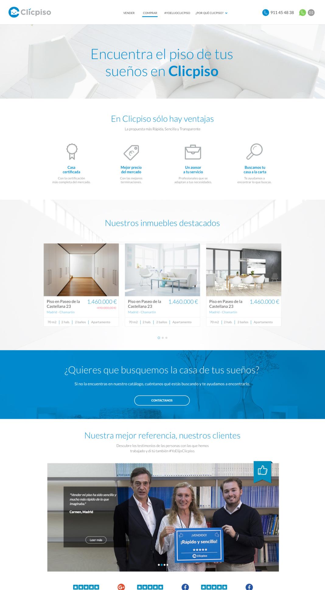 Diseño y desarrollo web Clicpiso