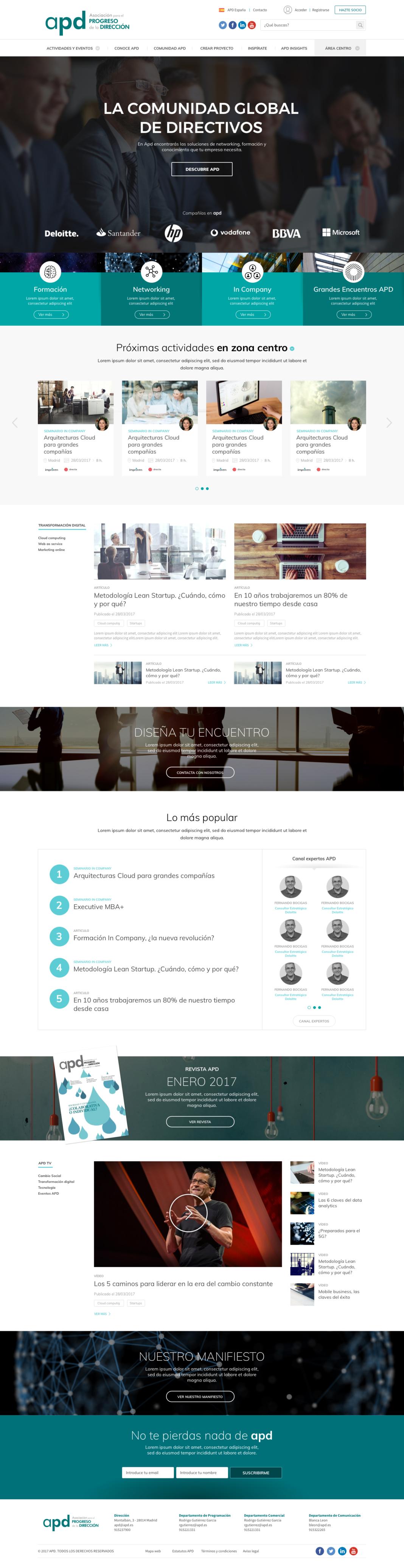 Web APD, proyecto proun