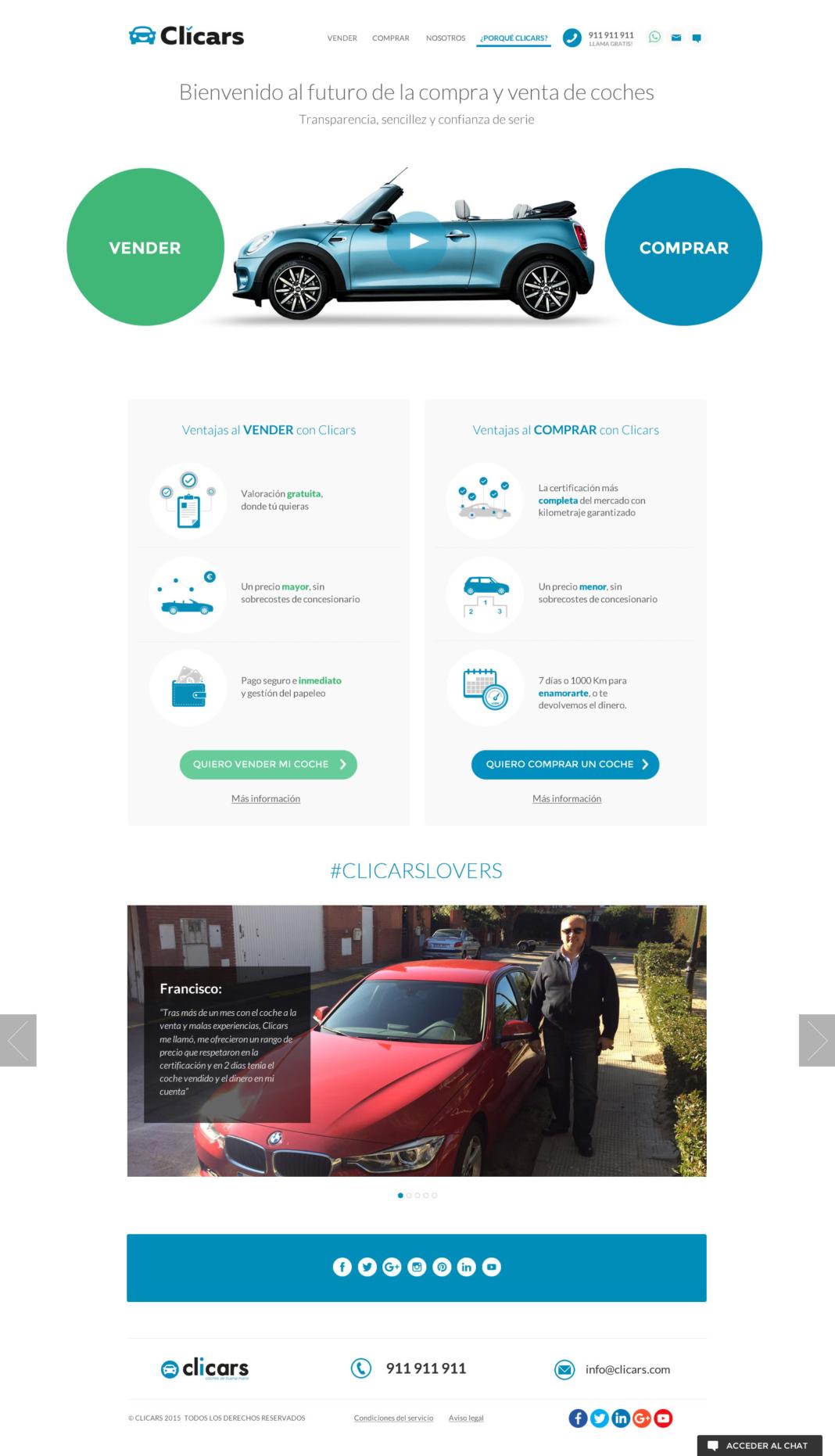 Clicars - diseño web