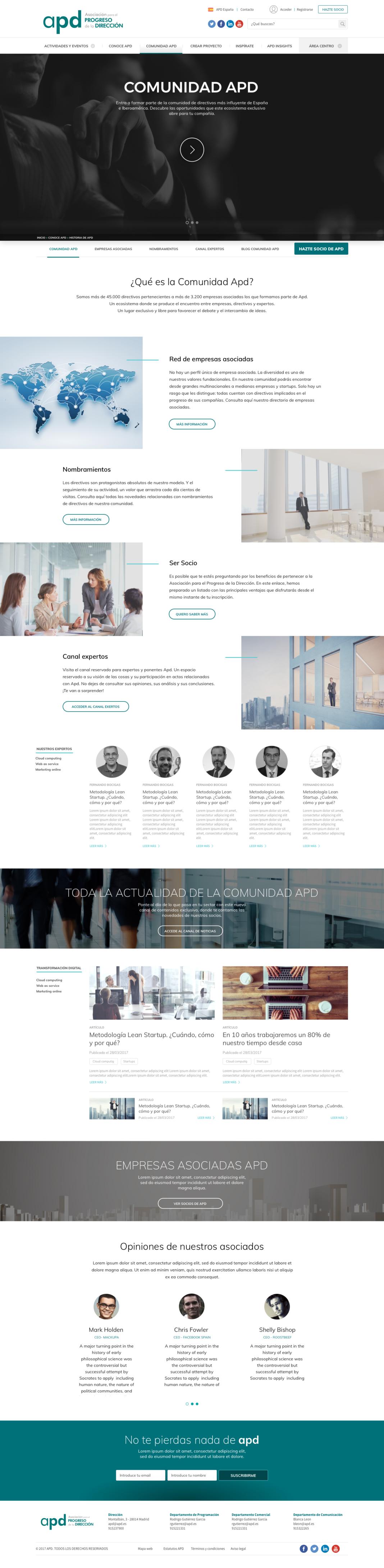 Desarrollo web APD: comunidad