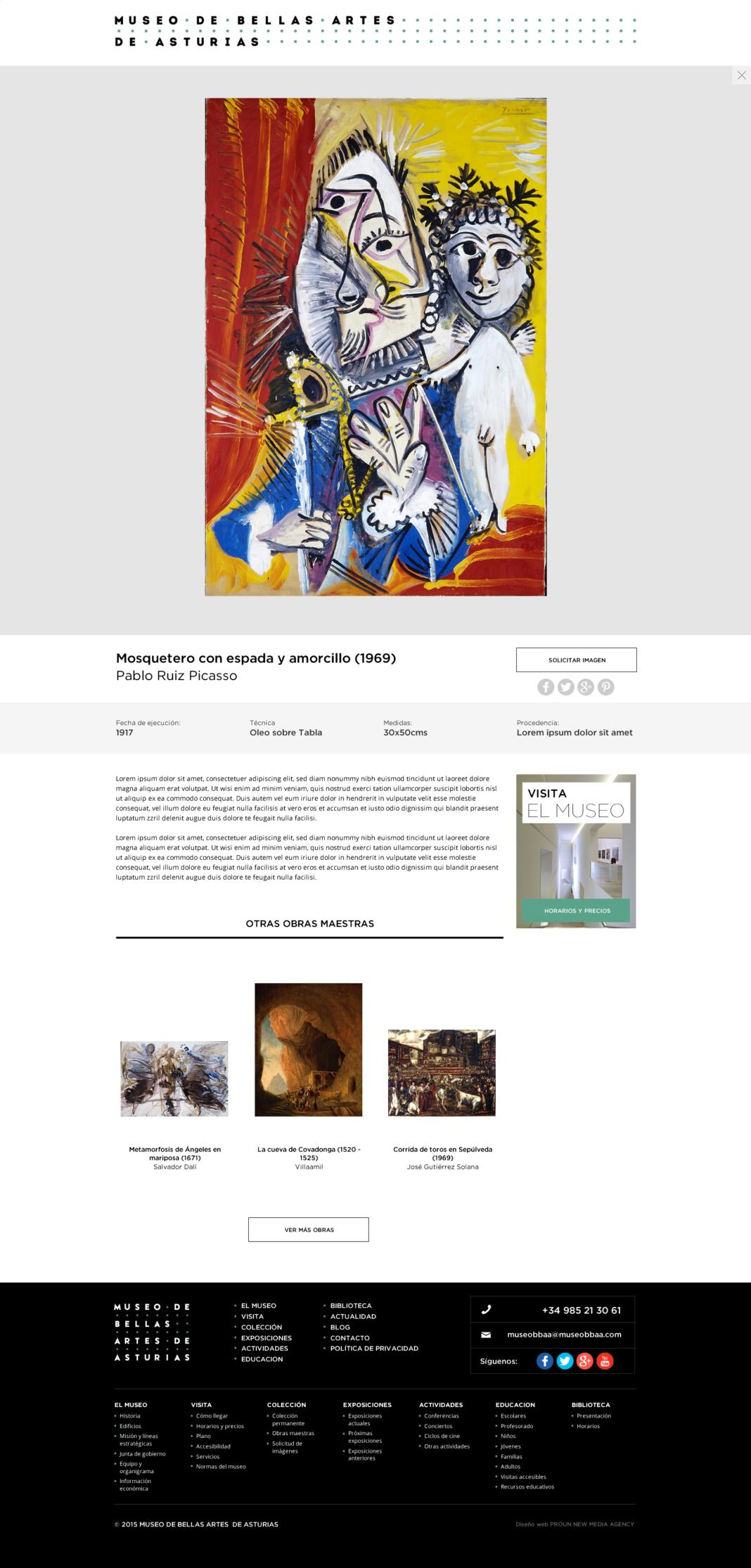 Diseño web y desarrollo web Museo de Bellas Artes de Asturias