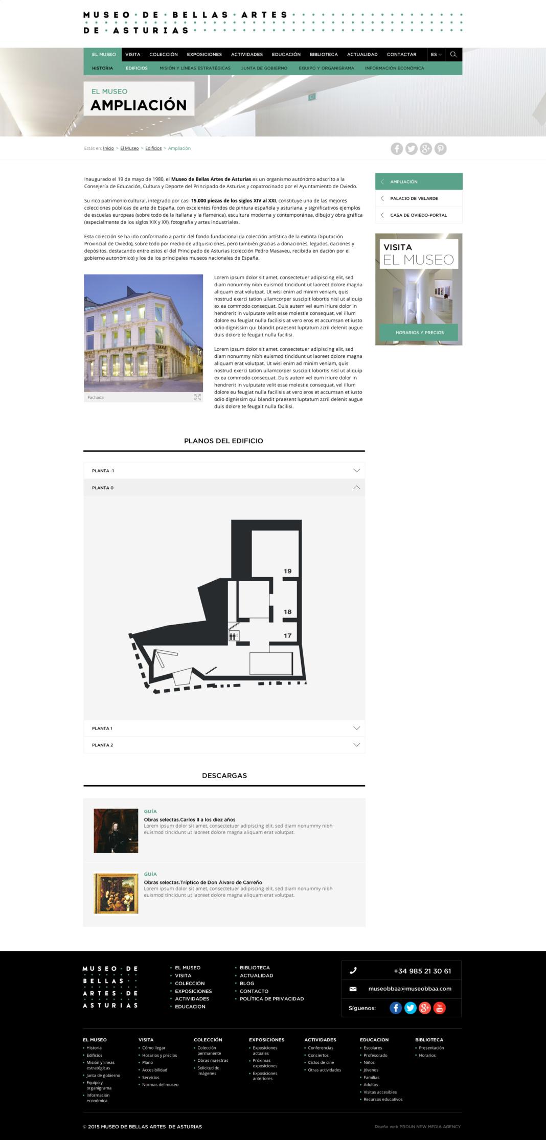Desarrollo web y diseño web Museo de Bellas Artes de Asturias
